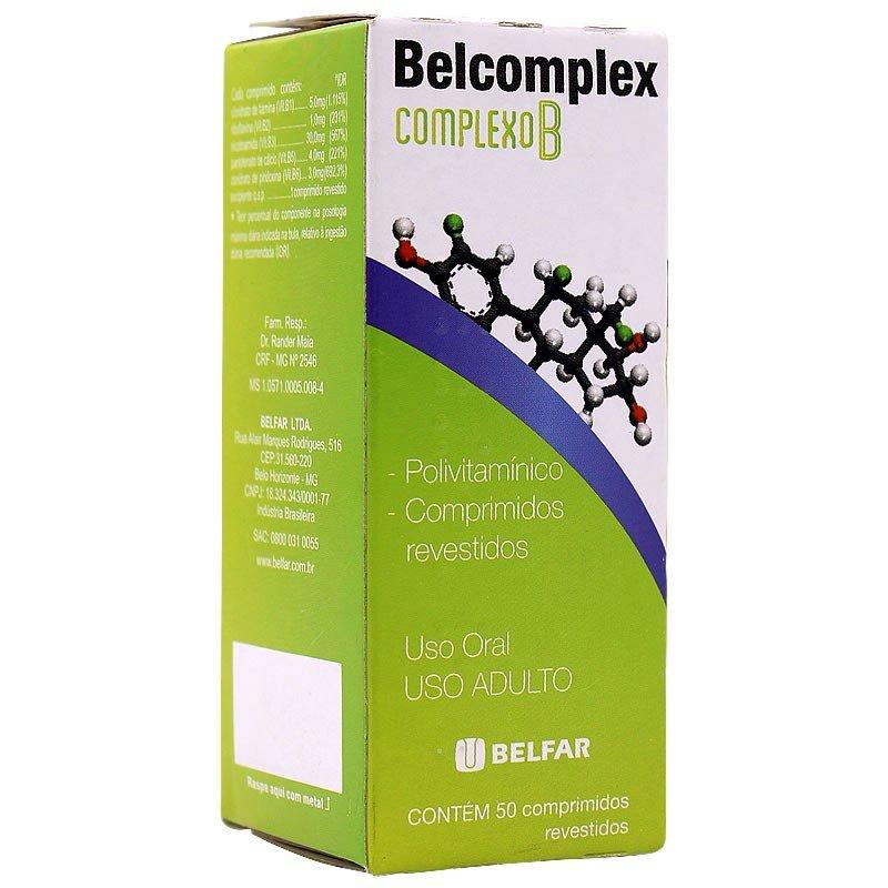 19356cb3c Belcomplex (complexo B) Com 50 Comprimidos Revestidos