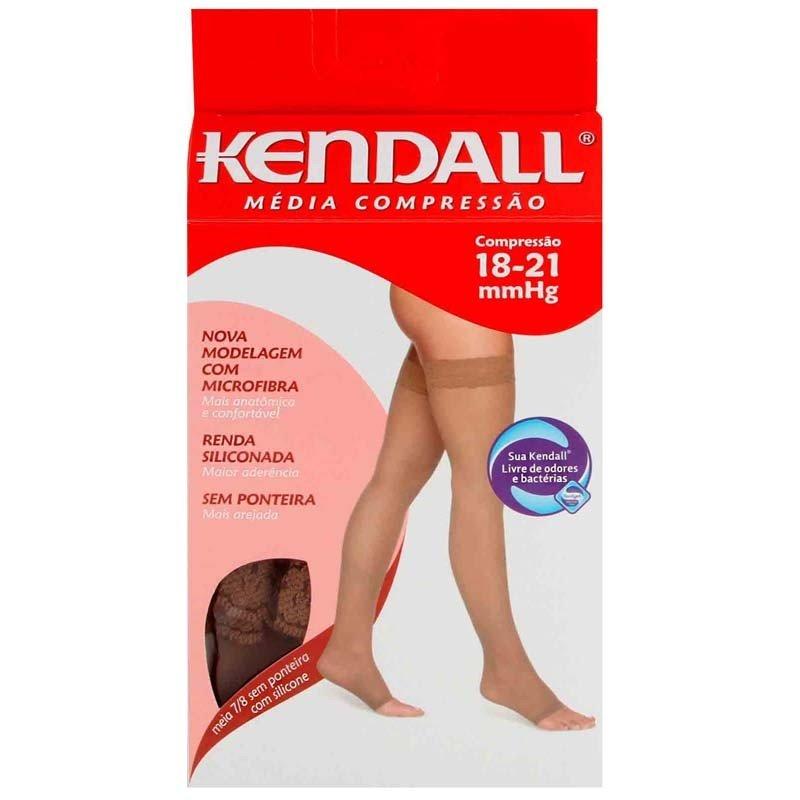 5d661ec6e Meia Medicinal Kendall Mc Coxa 7 8 Medio Mel Sem Ponteira C  Silicone