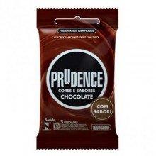 Preservativos Prudence Cores e Sabores Chocolate Com 03 Unidades