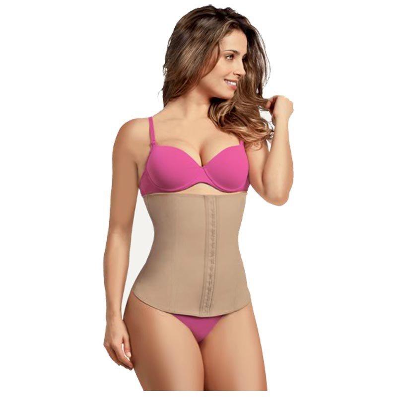 68cf862f1fbf30 Cinta Modeladora Esbelt Body Shaper Cotton Cor Chocolate Tamanho Extra  Grande