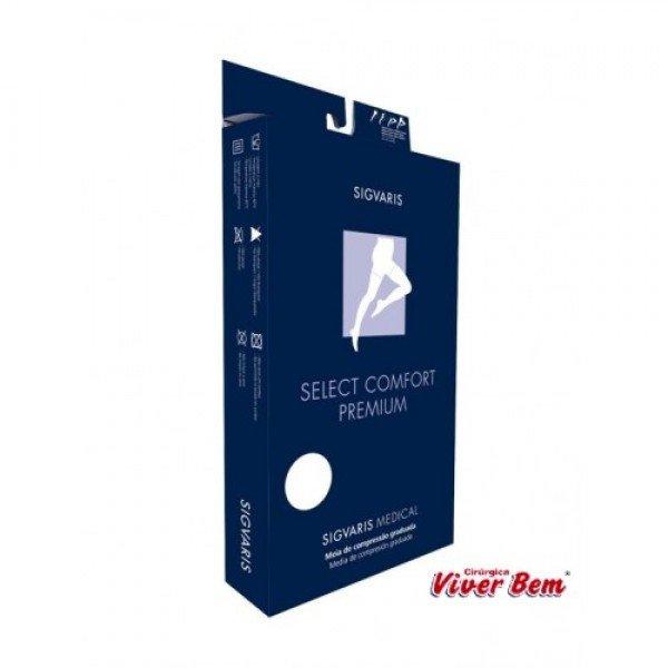 486d897bf Meia Coxa Sigvaris Select Comfort Premium Pé Aberto Médio Normal Cor  Natural Ref-2a33 Compressão