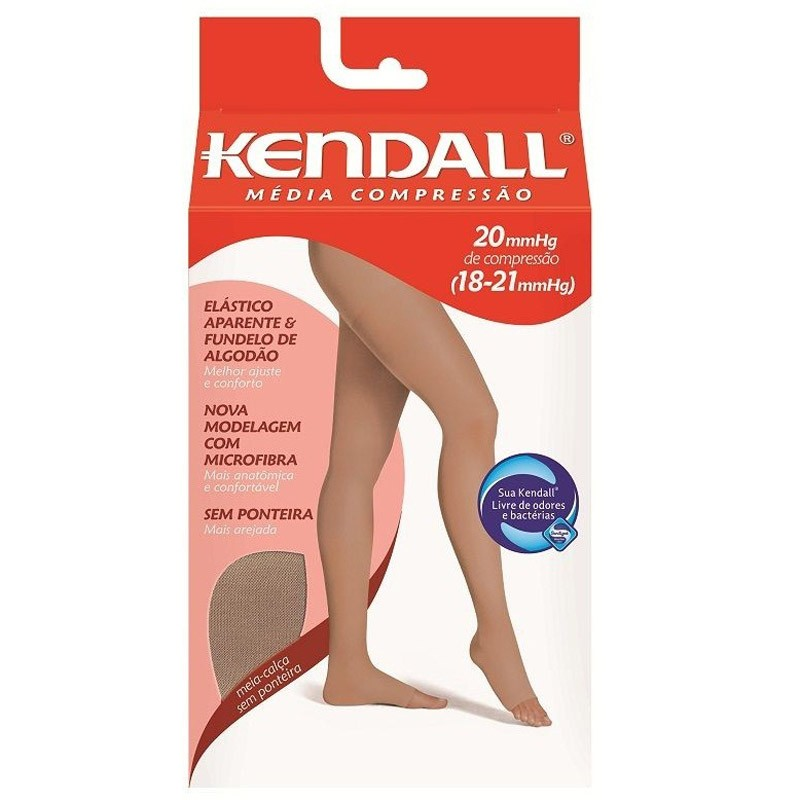 150f62fdd Meia Elástica Kendall Feminina Tamanho Grande Cor Mel Compressão 18-21 Mmhg  Ref 411703