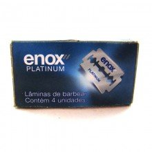 Lâminas de Barbear Cartela Enox Com 04 Unidades