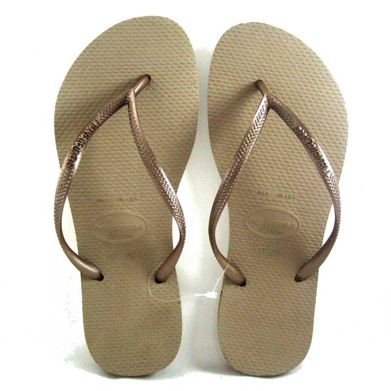 313af07f4 Comprar Sandalia Havaianas Slim Areia Com Dourado Claro