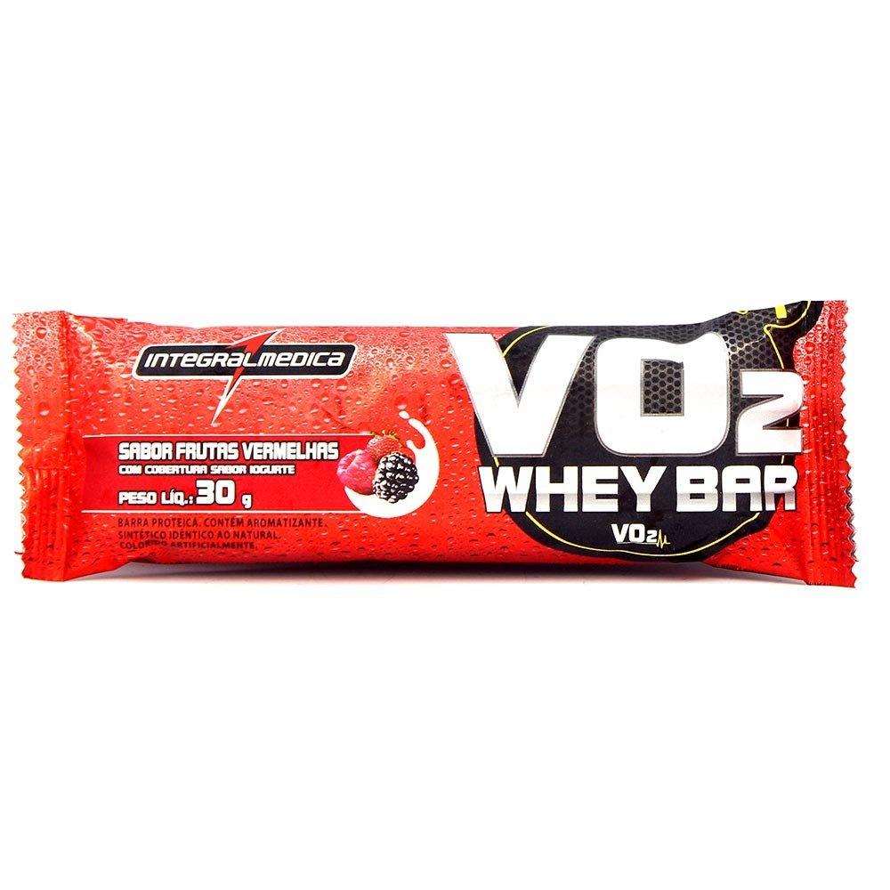 147d21402 Barra Protéica Vo2 Protein Bar Integralmédica Frutas Vermelhas Com 30g