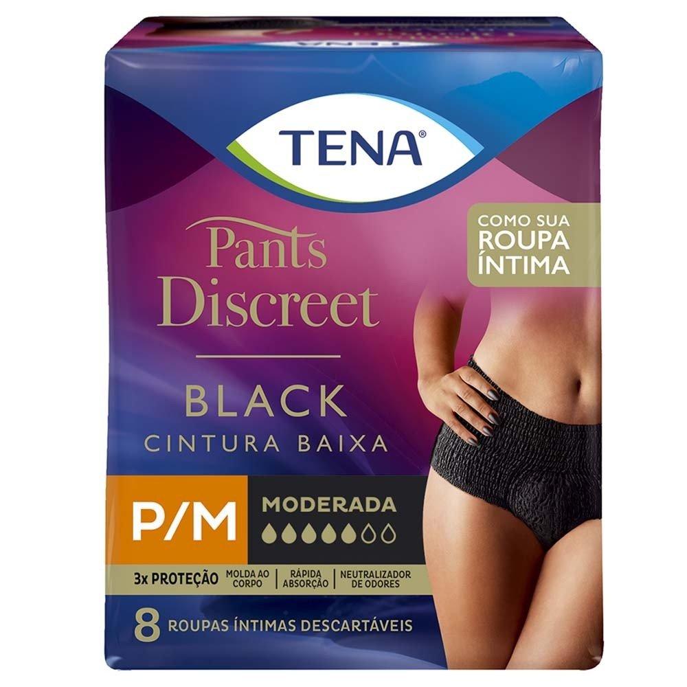 ROUPA ÍNTIMA TENA PANTS DISCREET BLACK - Fraldas