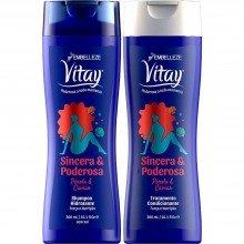 Kit Shampoo e Condicionador Embelleze Vitay - Sincera e Poderosa 300ml Cada