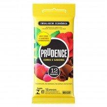 Preservativo Prudence Cor e Sabores Com 12 Unidades