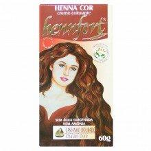 Tintura Henna Creme Hennfort Castanho Dourado 60g