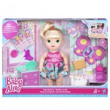 1852896b22 Boneca Baby Alive Borboletinha Loira Hasbro Ref- B8279
