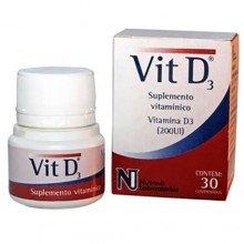 Vitamina D3 Com 30 Comprimidos