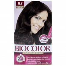 Tintura Biocolor Kit Creme 6.7 Marrom Natural Irresistível