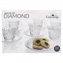 Jogo de Xícaras Diamond - Concierge 12 Peças Ref: Dmh4366