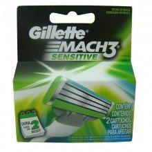 Carga Gillette Mach3 Sensitive C/2 Unidades
