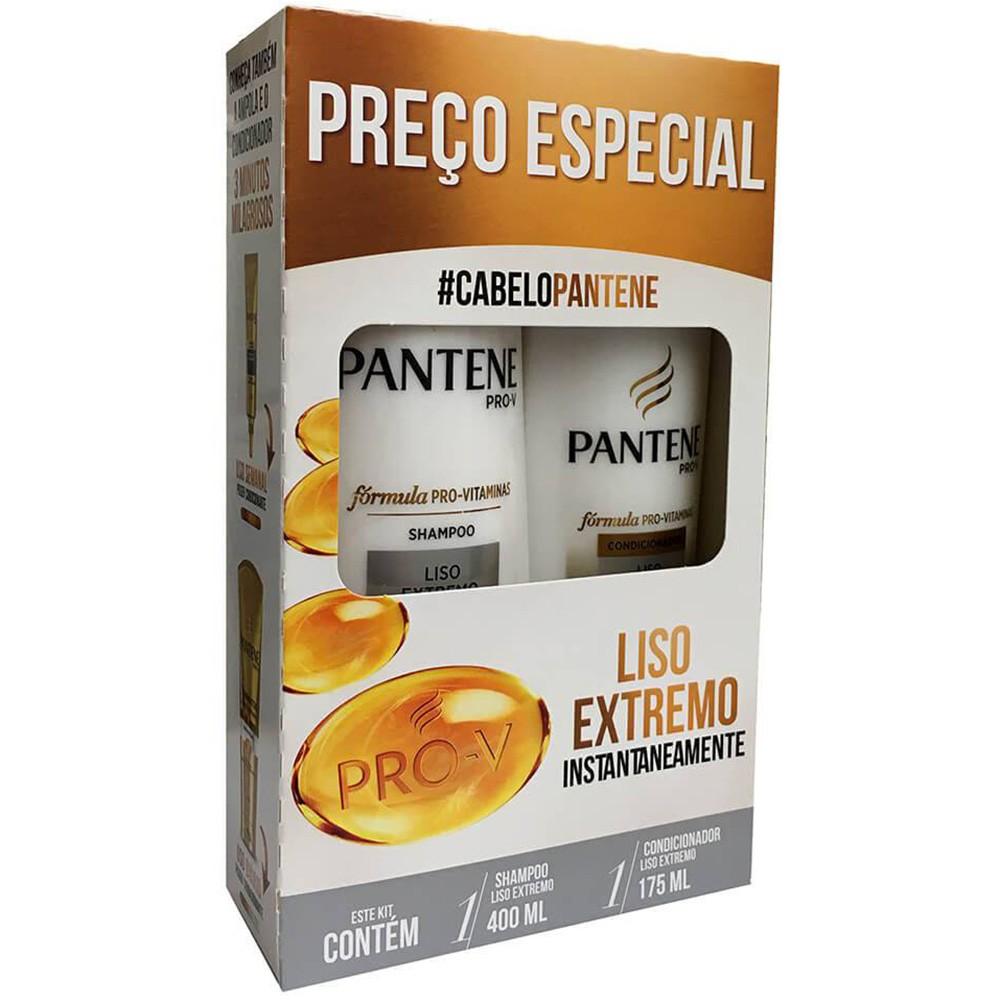 aef84e89e Pantene Pro-v Liso Extremo Kit Shampoo 400ml e Condicionador 175ml