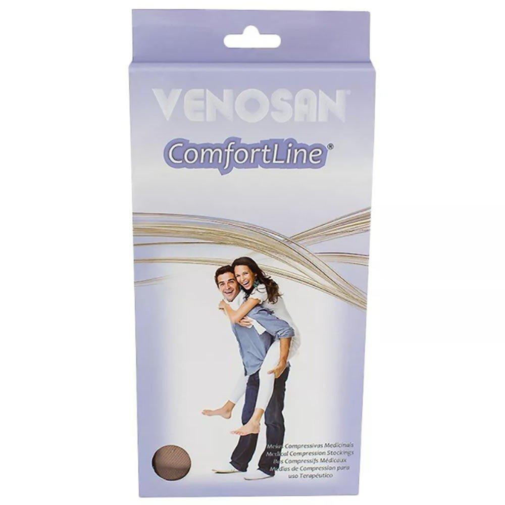 61f7332bd Meia Elástica Venosan Comfortline Ad Tamanho Pequena Longa Compressão  20-30mmhg Pé Aberto Cor Bege