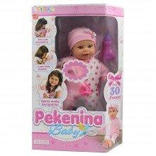 Boneca Pekenina Baby 30 Frases Miketa Brinquedos Ref: 0564